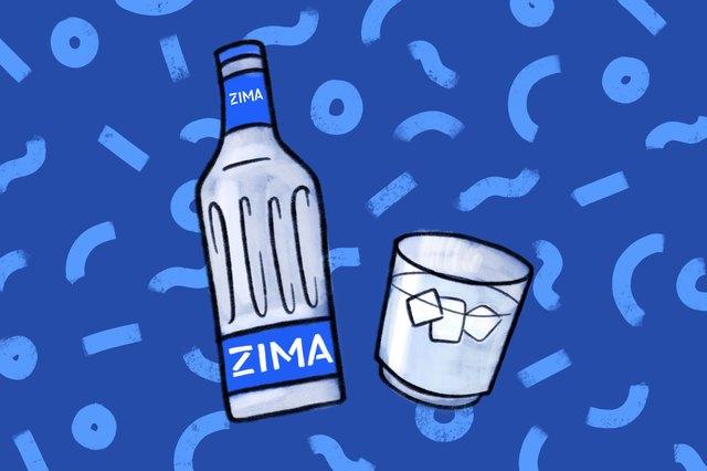 zima clear beer illustration