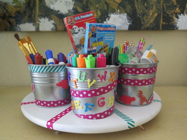 Lazy Susan homework station