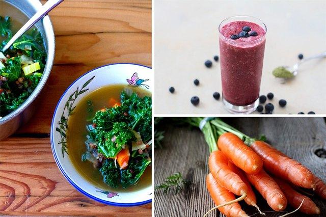 Healthy foods to help you get glowing skin.