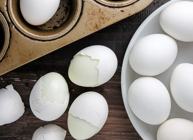 Cook Hard-Boiled Eggs in a Muffin Pan