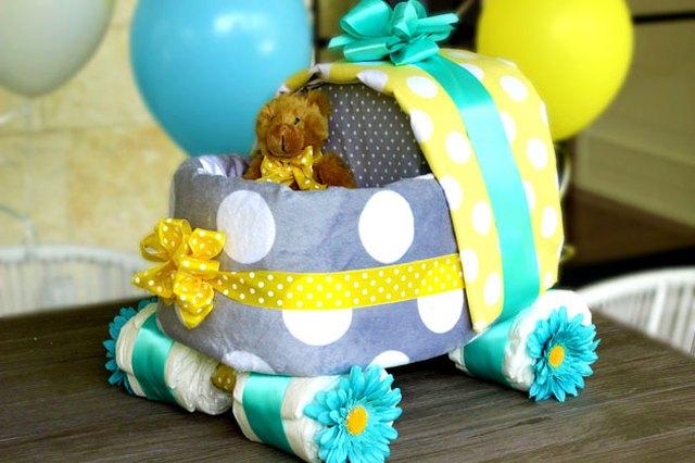 DIY Baby Carriage Diaper Cake