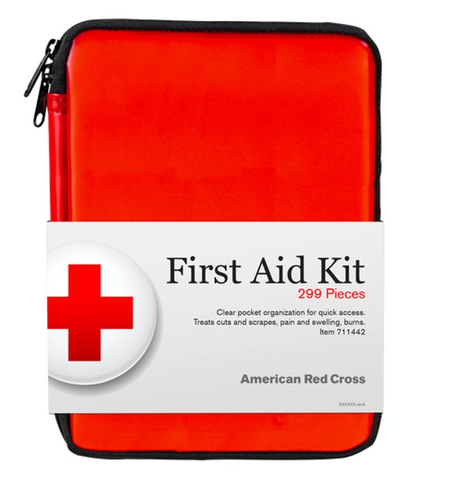 Red Cross first aid kit.