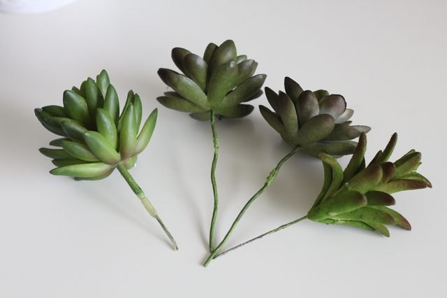 Faux Succulent Pen Planter