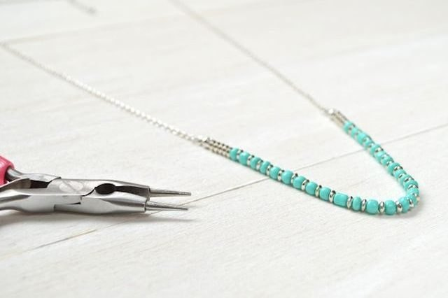 Shortening a necklace can change the look and feel of it.