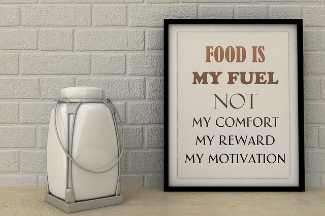 Food is Fuel not my comfort, reward, motivation.