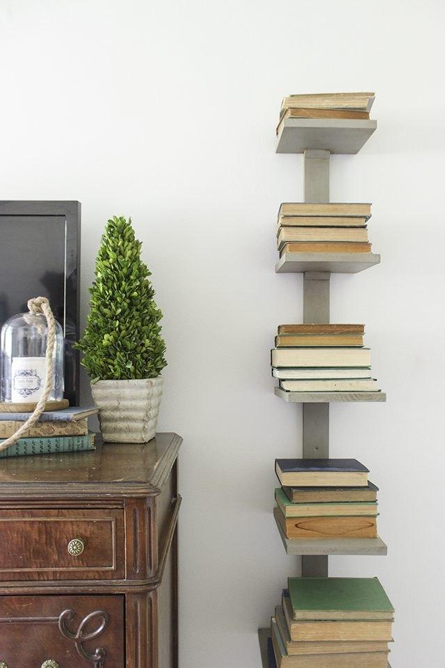 slim vertical bookshelf