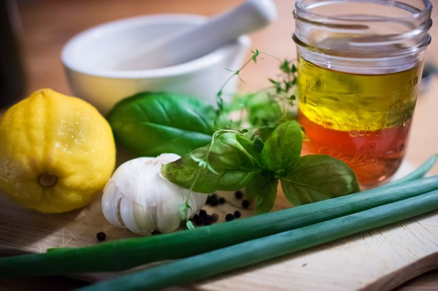 Ingredients for a salad dressing