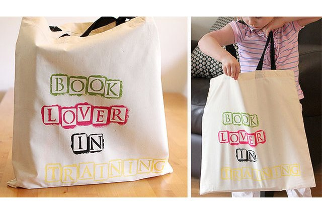 Stamped library bag