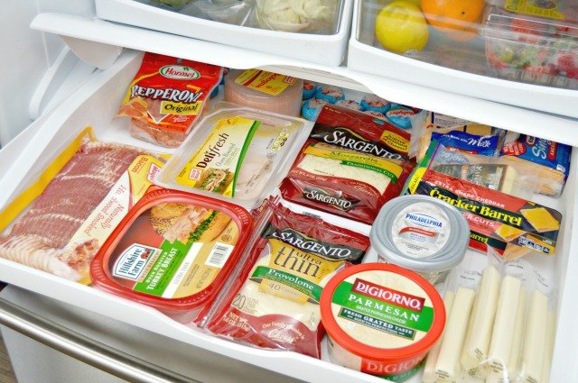 Store meats and cheeses in a drawer.