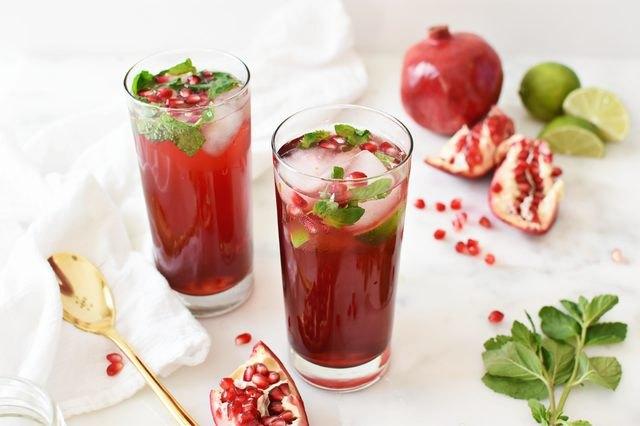 Pomegranate Mojito Mocktails