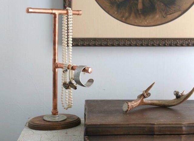 Copper Jewelry Stand