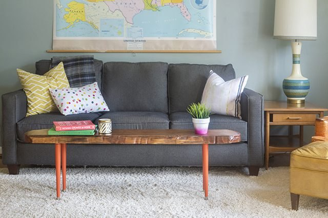Transform a Wood Slab Into a Coffee Table