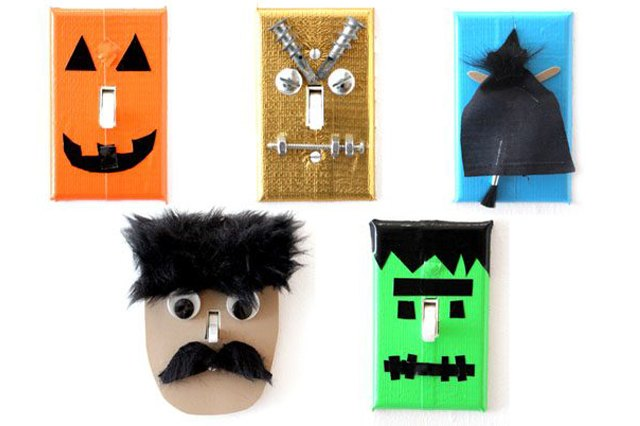 Dress up your light switches in fun, whimsical costumes.