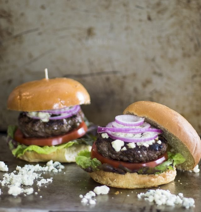 Grilled Blue Cheese Hamburgers