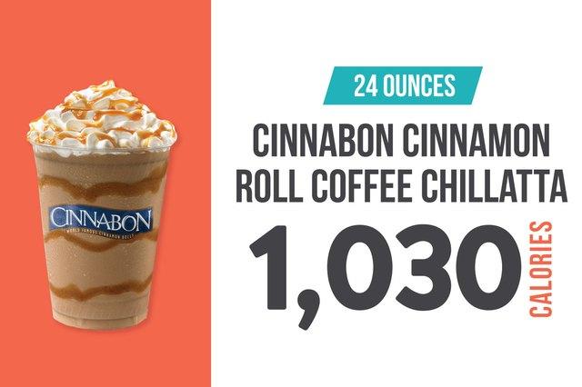 Cinnabon Cinnamon Roll Coffee Chillatta