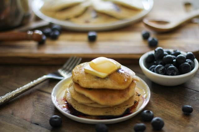 The Healthiest Blueberry Pancakes Ever
