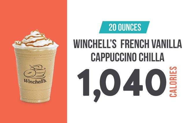 Winchell's French Vanilla Caramel Cappuccino Chilla