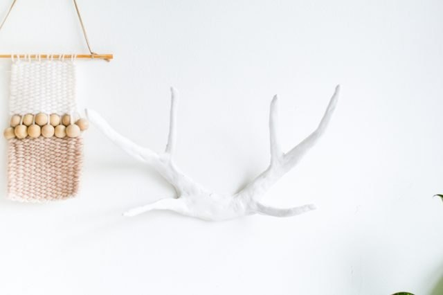 Faux clay antlers