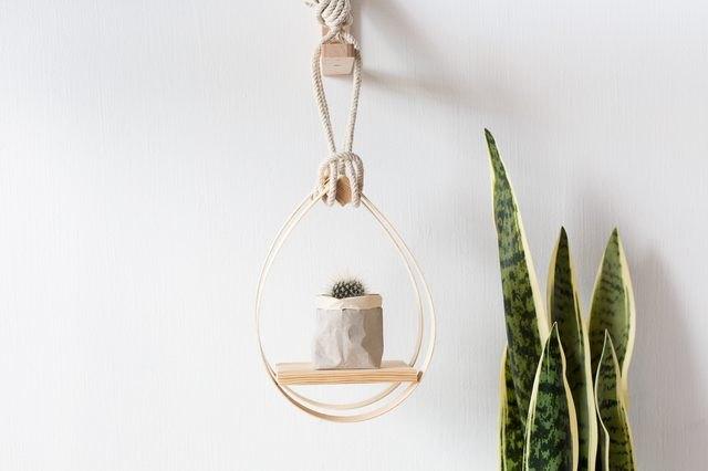 mid-century modern hanging planter