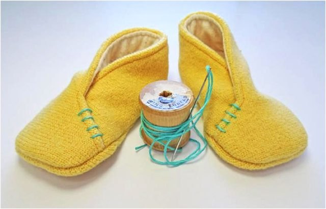 Baby slippers.