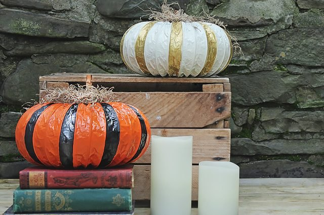 Skip the messy pumpkin carving and try these easy dryer vent pumpkins instead.