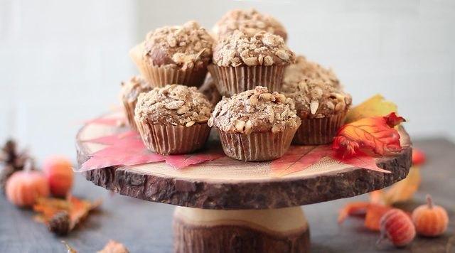 Festive pumpkin spice muffins