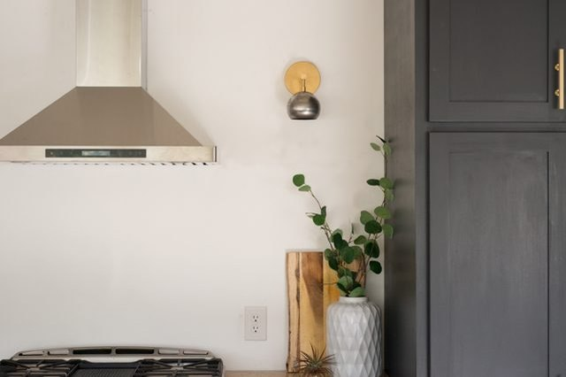 How to install a wall sconce.