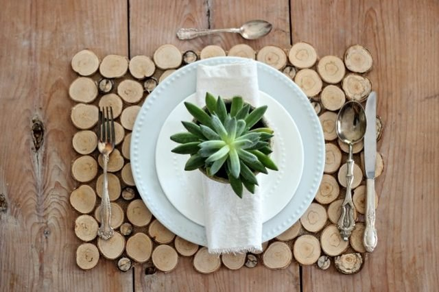 birch bark placemats