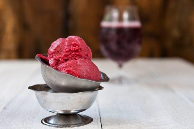 Raspberry Lambic Sorbet