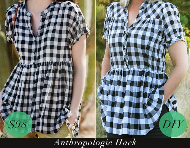 Trendy swing top DIY hack