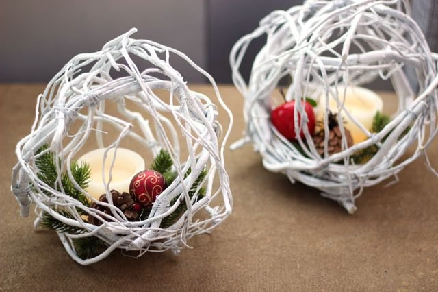 DIY willow twig balls