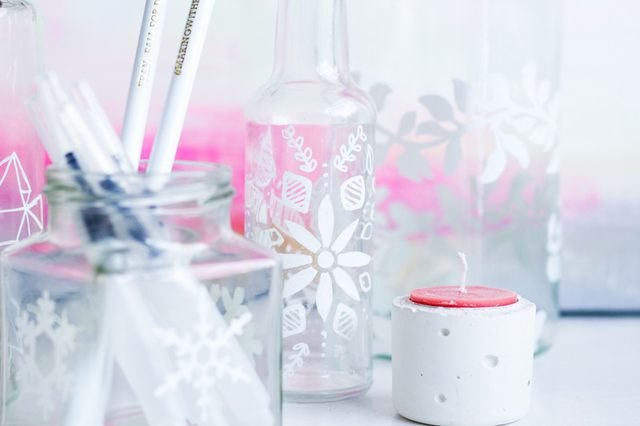 How to Decorate Glass Jars With Porcelain Paint Pens
