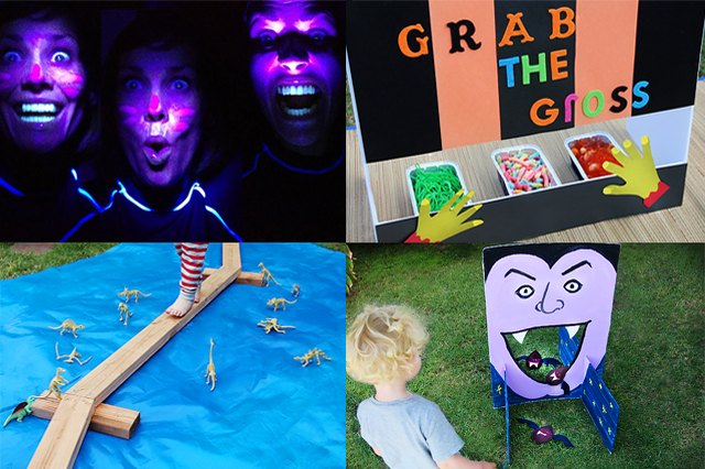 collage of haunted house ideas for kids