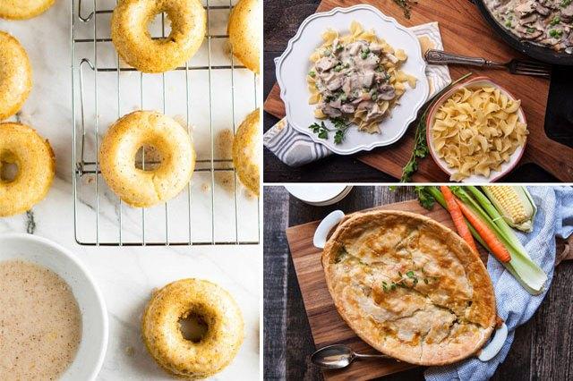 donuts, turkey a la king and pot pie.