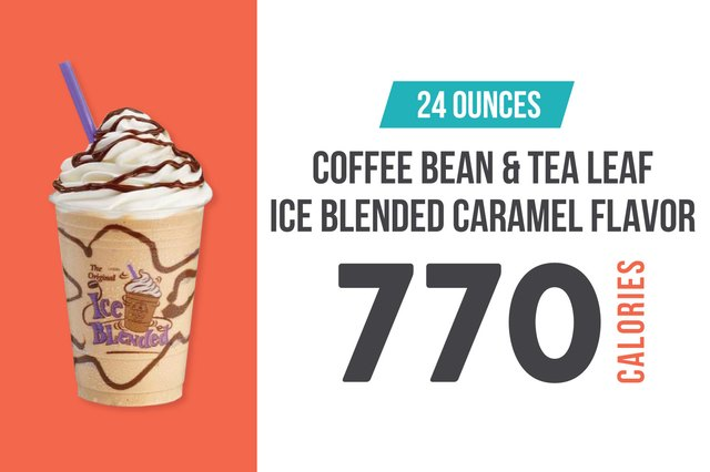 Coffee Bean and Tea Leaf Ice Blended Caramel Flavor