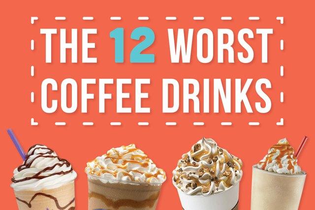 sugary coffee drinks