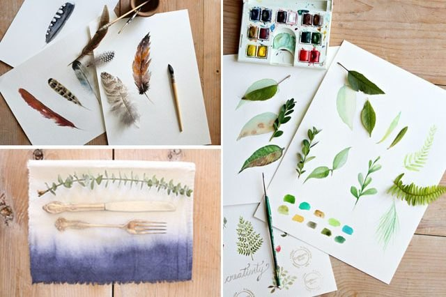 Watercolor project collage.