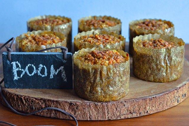 High-protein sweet potato and oatmeal breakfast casseroles.