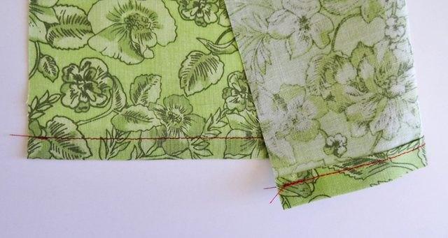 Fabric with hem.
