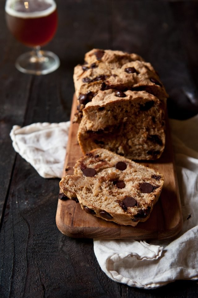 Pumpkin chocolate chip beer bread