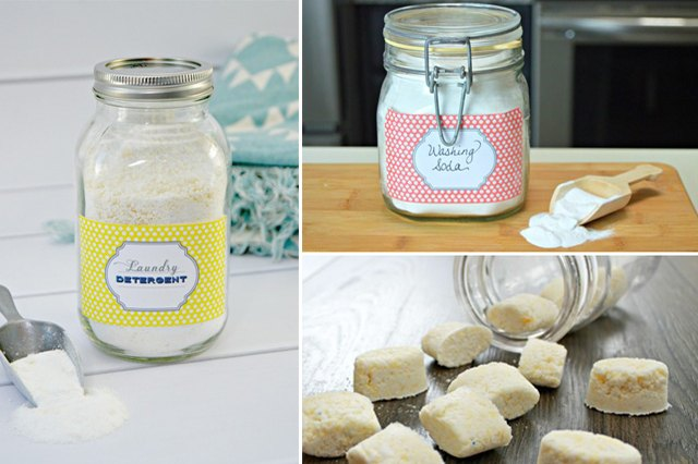 homemade laundry products.