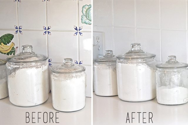 Have an Outdated Backsplash? Paint It.