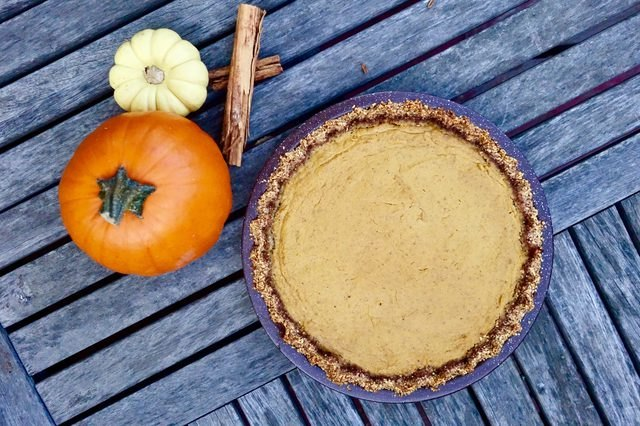 Gluten free, low carb pumpkin pie