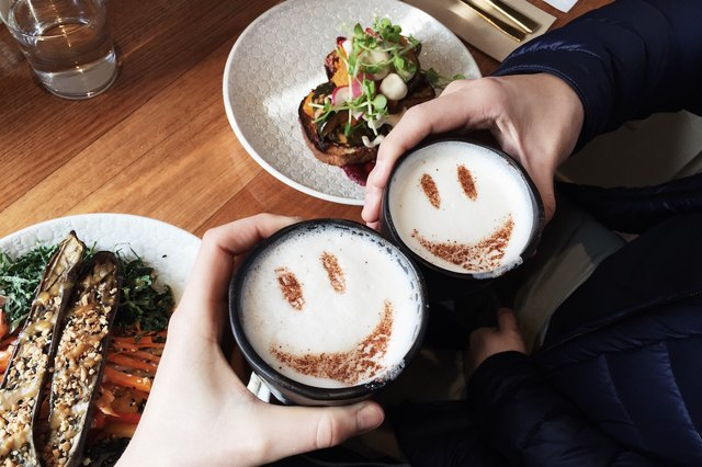 Two cappuccinos