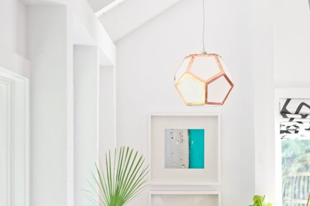 How to Make a Dodecahedron Pendant Light