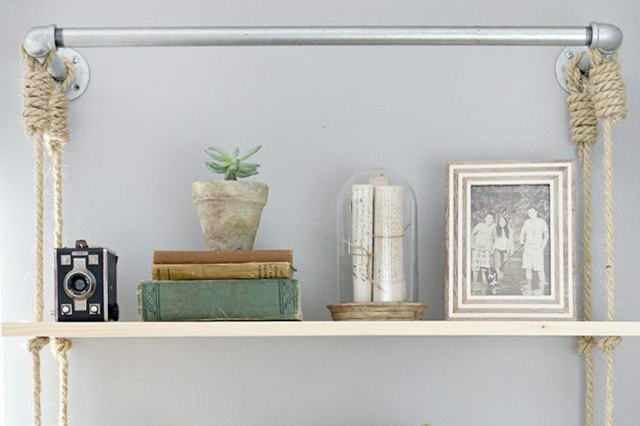 Display Your Favorite Accessories on Wood Shelves