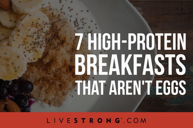 Egg-free high-protein breakfast ideas.