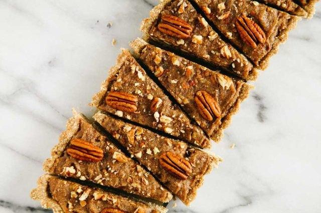 No-Bake Gluten Free Pecan and Date Tart