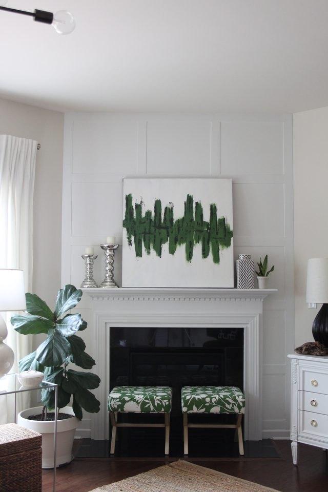fireplace board and batten
