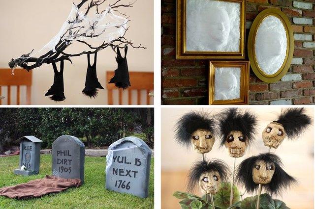 spooky Halloween home decor